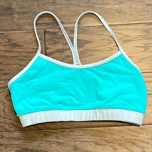 Size 8 Lululemon Turquoise/ Gray Flow Y Bra